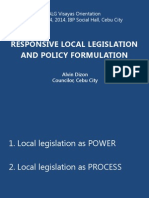 ALG Responsive Local Legislation and Policy Formulation
