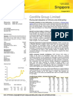 2013-08-05 P8A=SG (Maybank Kim E) Cordlife Group Limited - Rumoured relaxation of China''...1.29, CLGL SP, Healthcare)