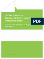 Literacy Focus Across Primary Connections
