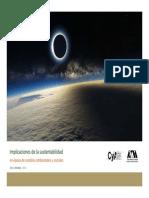 Implicaciones de La Sustentabilidad en Epoca de Cambios Amb y Soc