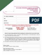 Mayıs 2012 KPDS Temel Soru Kitapçığı
