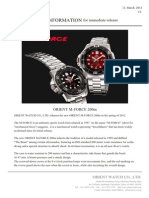 Press Release of Orient M-Force EL06