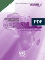 LE DÉVELOPPEMENT ECONOMIQUE EN AFRIQUE, Rapport 2013