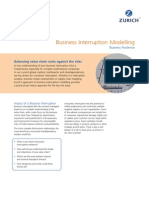 Business Interruption Modelling