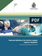 Aihw Nationaldefinitionsforelectivesurgeryurgencycategories Jul 2013