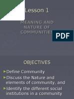 SOCIETY - Community