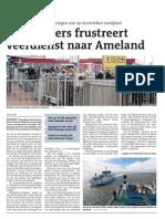Zigzagkoers frustreert veerdienst naar Ameland