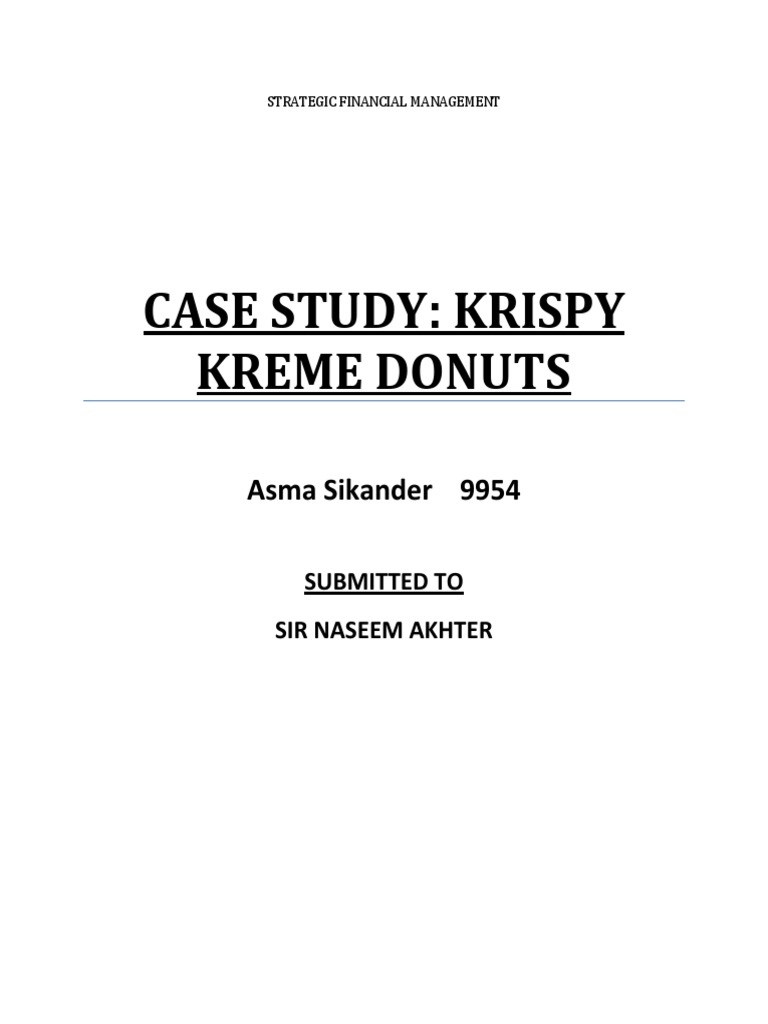 krispy kreme financial analysis