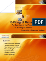 E-Filing of Returns (Income tax online filing)