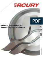 Manual de Proprietario Do Motor de Popa Mercury 225-250 HP EFI A