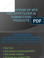 Applications of Spc and Soya Flour in Human