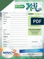 Formulir Pendaftaran Kdi 2014