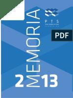 Memoria Parque Tecnológico de la Salud 2013