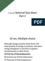 PIChE National Quiz Bowl Part 3