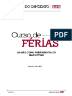 Curso Games Como Ferramenta de Marketing 2014-2