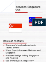 Conflicts Between Singapore and Malaysia (Final)