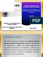 Encuesta de cultura de la legalidad México