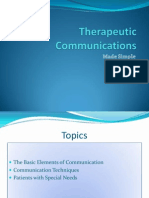 Therapeutic Communications 1