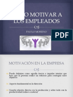 Motivación en La Empresa