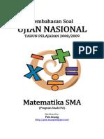 Pembahasan Soal UN Matematika SMA Program Studi IPA 2009