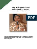 Speech by Rajan Mahtani on Zambezi Housing Project
