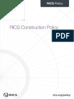 RICS Construction Policy 2013