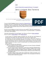 SOVERAL - Origens Dos Ferreiras