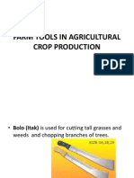 Lesson 1 Lo1 Info Sheet1farm Tools in Agricultural Crop Production