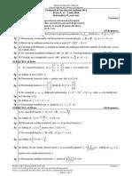 Matematica Mate-Info Bac 2014