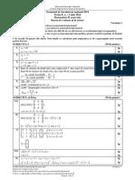 Barem Matematica Mate-Info Bac 2014