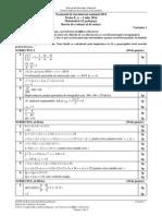 Barem Matematica Pedagogic Bac 2014