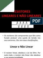 Resistores Lineares e Nc3a3o Lineares