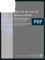 Ethics in the eyes of Bulacan Media Practitioners