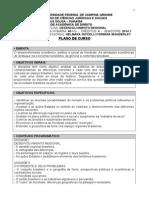 PLANO de CURSO Desenvolvimento Regional 2014