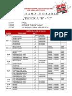 Programa Horario Categoria b y c - Jden 2014