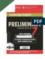 Preliminary English Test 7