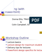 Lecturing (With PowerPoint)