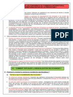 Cours Complet Sur Les Fondements Du Commerce International Et de l Internationalisation de La Production