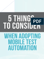 5 Things to Consider When Adopting Mobile App Test Automation