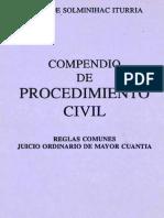Compendio de Procedimiento civil.