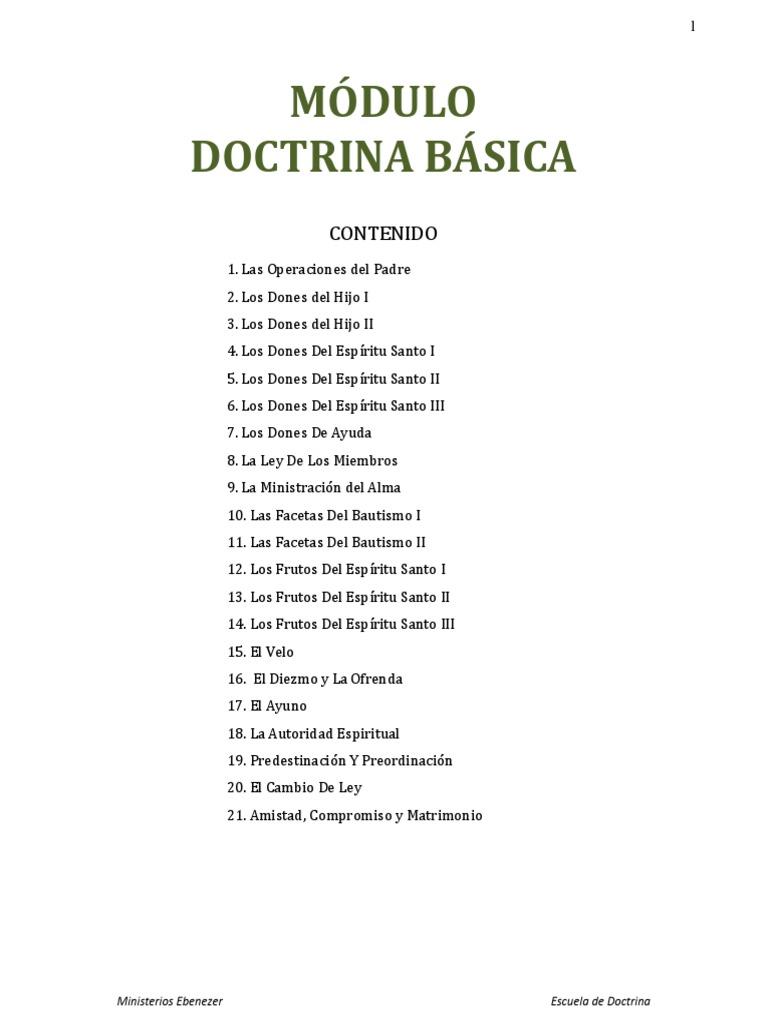 Modulo I I - Doctrinas Basicas