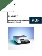 Manual Biotek ELx800 Lector ELISA
