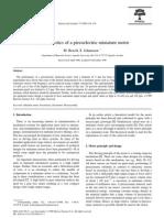 Characteristics of a Piezoelectric Miniature Motor
