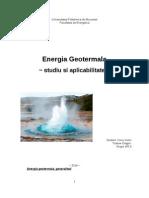 Voicu Victor-Tudose Dragos Energia Geotermala