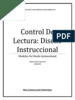 Control de Lectura. Diseño Instruccional
