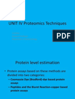 UNIT IV Proteomics Techniques