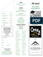 18th Annual William Floyd Scholarship Fund Golf Tournament