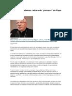 06-06-2013 No Malinterpretemos La Idea de Pobreza Del Papa Francisco