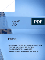 types of communication devices used in organization
