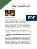 Chile Es El Único País en América Latina Que No Ha Llevado a Cabo Una Asamblea Constituyente